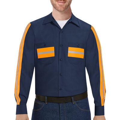 Red Kap® Long-Sleeve Enhanced Visibility Industrial Work Shirt