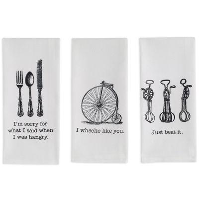 Design Imports Vintage Set of 3 Kitchen Towels