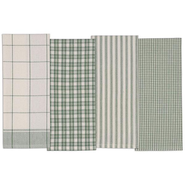 design imports sage set of 4 kitchen towels - Kitchen Towels New Design