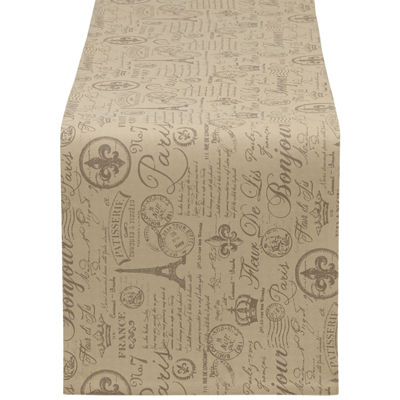 Design Imports French Flourish Printed Table Runner