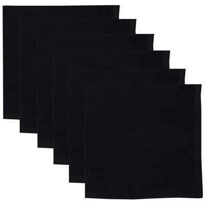Design Imports Set of 6 Black Napkins