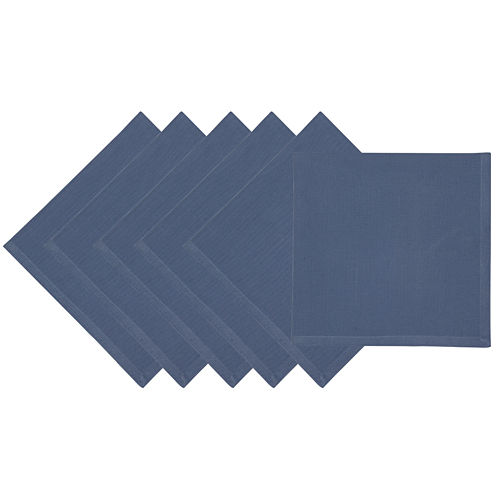 Design Imports Stonewash Set of 6 Napkins