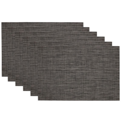 Design Imports Grey Tonal Tweed Set of 6 Placemats