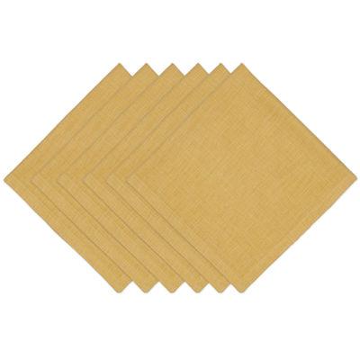 Design Imports Honey Mustard Set of 6 Napkins