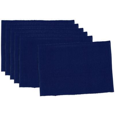 Design Imports Indigo Blue Set of 6 Placemats