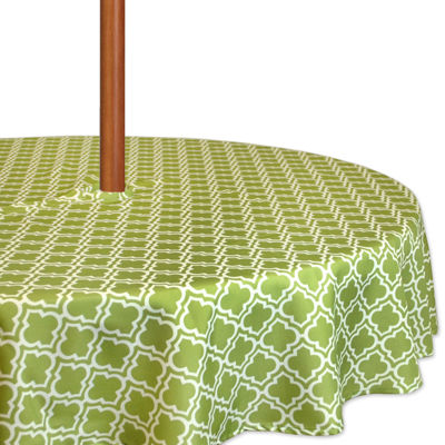 Design Imports Lattice Umbrella Round Tablecloth