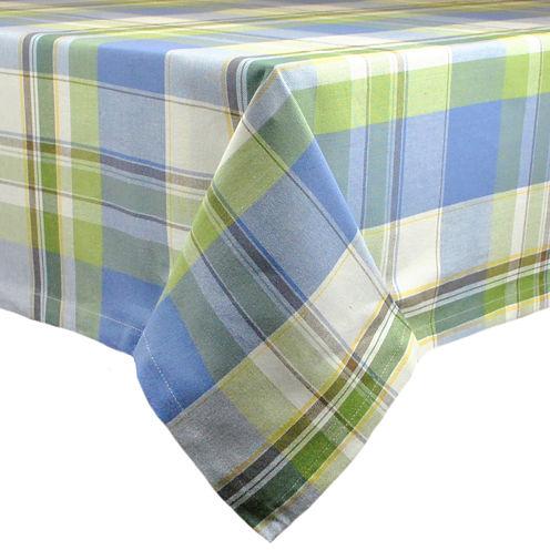 Design Imports Lake House Plaid Tablecloth