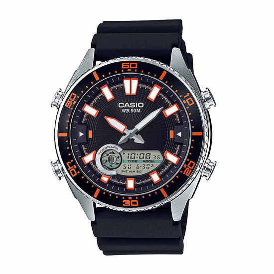 Casio Mens Black Strap Watch-Amw-720-1av