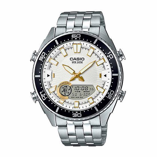 Casio Mens Silver Tone Bracelet Watch-Amw-720d-7av