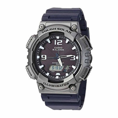 Casio Solar Mens Black Strap Watch-Aq-S810w-1a4v