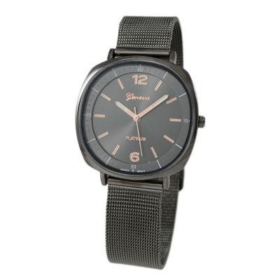 Geneva Platinum Womens Gray Strap Watch-1528