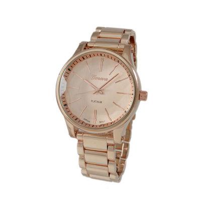Geneva Platinum Womens Rose Goldtone Bracelet Watch-5965