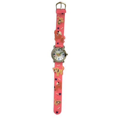 Olivia Pratt Kids Pink Dog Strap Watch-17195