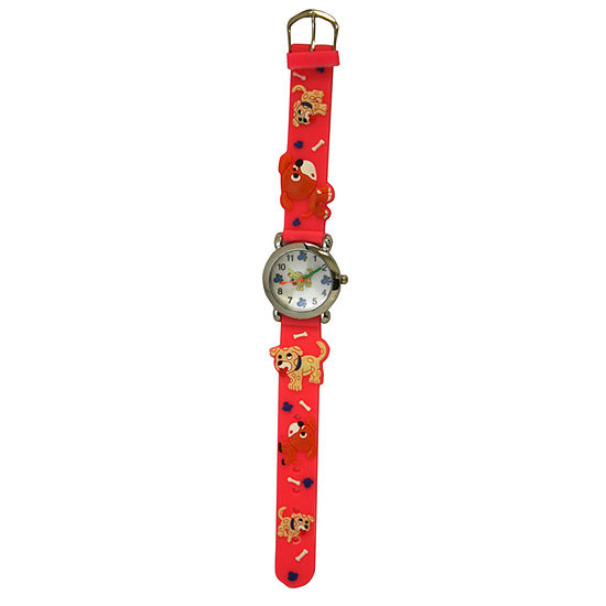 Olivia Pratt Kids Pink Dog Strap Watch-17195