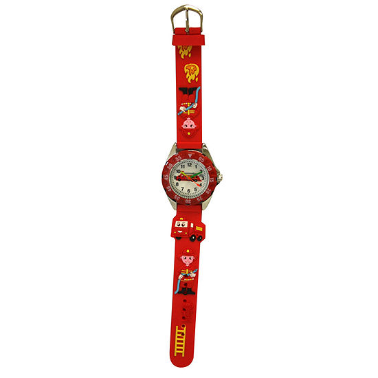 Olivia Pratt Kid's Firefighter Red Strap Watch-17184