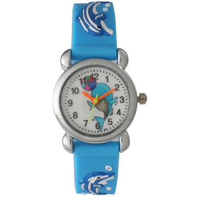 Olivia Pratt Kids Blue Dolphin Strap Watch-8083