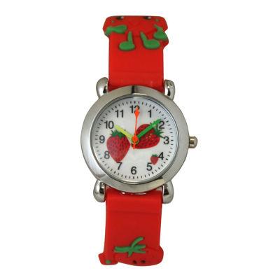 Olivia Pratt Kids Red Strawberry Strap Watch-8083