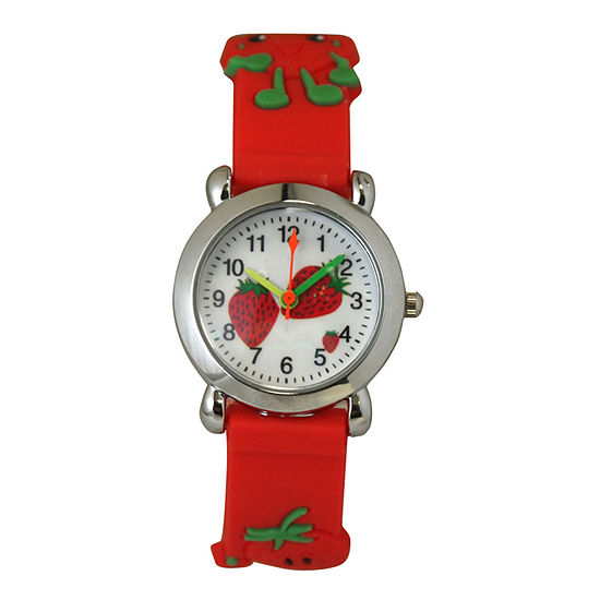 Olivia Pratt Kids Red Strawberry Strap Watch 8083