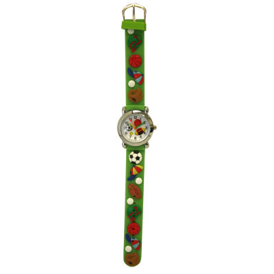 Olivia Pratt Kids Sports Green Strap Watch-17174