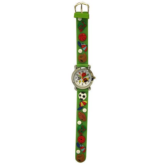 Olivia Pratt Kids Sports Green Strap Watch-17174