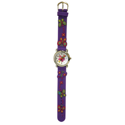 Olivia Pratt Kids Purple Butterfly Strap Watch-17175