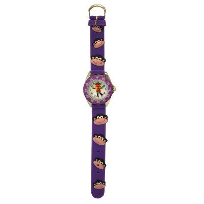 Olivia Pratt Kid's Monkey Time- Teacher Purple Strap Watch-17193