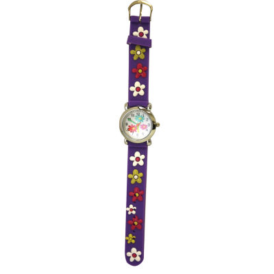 Olivia Pratt Kids Purple Flower Strap Watch-17189