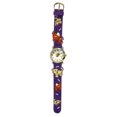 Olivia Pratt Kids Purple Dog Strap Watch-17195