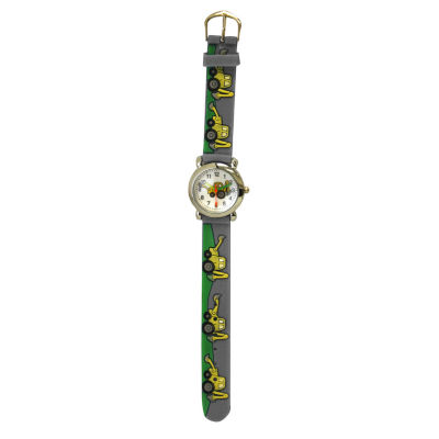 Olivia Pratt Tractor Unisex Gray Strap Watch-17186