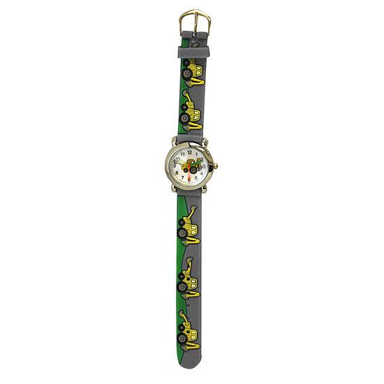 Olivia Pratt Tractor Unisex Adult Gray Strap Watch-17186