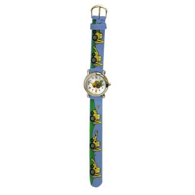 Olivia Pratt Tractor Unisex Blue Strap Watch-17186