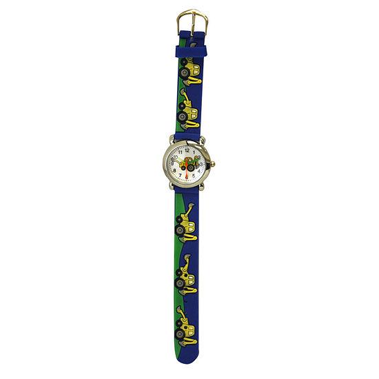 Olivia Pratt Tractor Unisex Adult Blue Strap Watch-17186