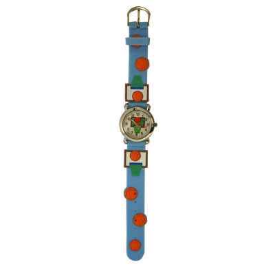 Olivia Pratt Basketball Unisex Blue Strap Watch-Bball101