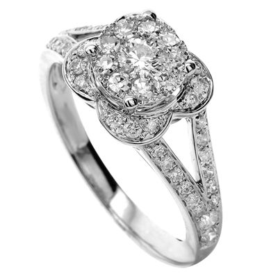 Limited Quantites Womens 5/8 CT. T.W. Genuine White Diamond 14K Gold Cocktail Ring