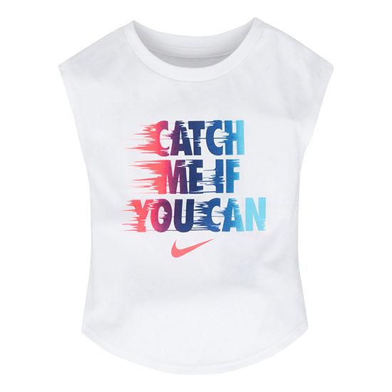 Nike Girls Crew Neck Short Sleeve Graphic T-Shirt - Preschool