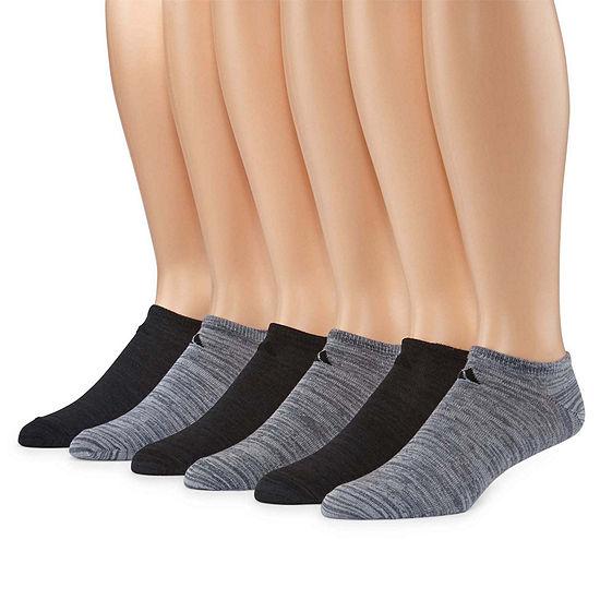 adidas 6 Pair Superlite No Show Socks-Mens