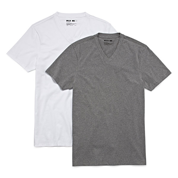 MSX by Michael Strahan 2-pk. Cotton Stretch V-Neck T-Shirts - Big & Tall