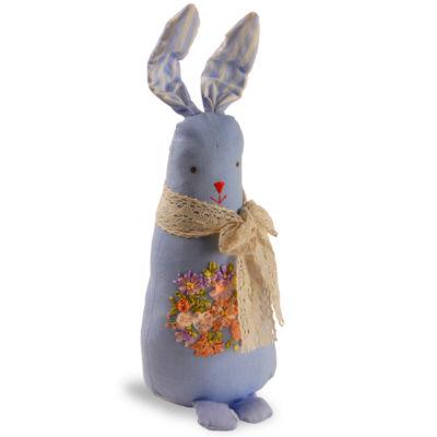 "20"" Garden Accents Fabric Blue Rabbit"""