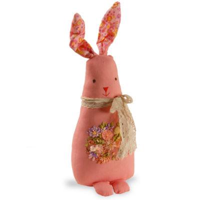 "20"" Garden Accents Fabric Pink Rabbit"""