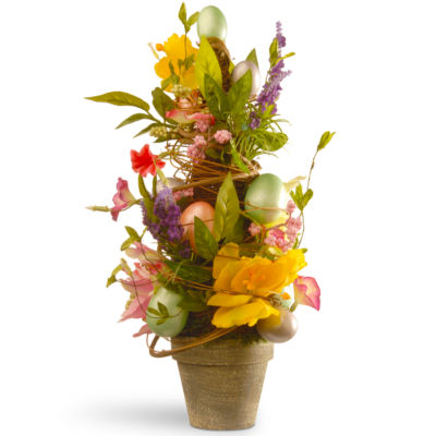 """20"""" Decorated Easter Pot"""""""