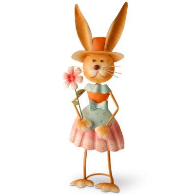 "27"" Metal Female Rabbit Decoration"""