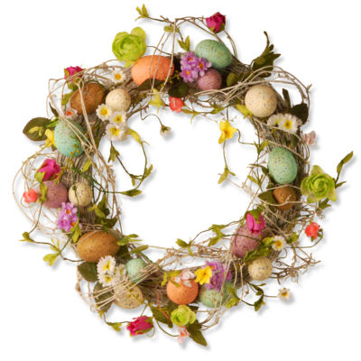 "18"" Garden Accents Easter Egg Wreath"""