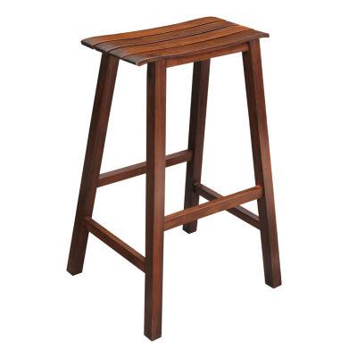 Slat Seat Bar Stool