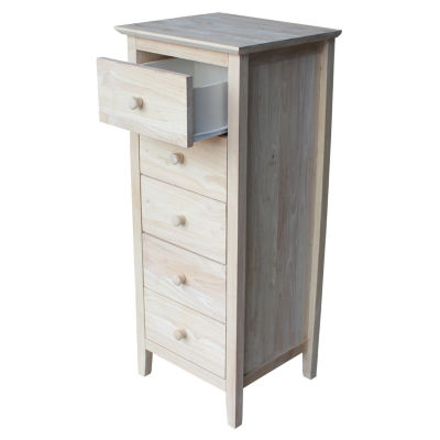 5-Drawer Unfinished Wood Chest