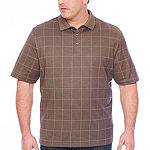 Van Heusen Short Sleeve Knit Polo Shirt Big and Tall