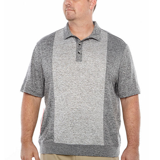 Van Heusen Mens Y Neck Short Sleeve Polo Shirt Big and Tall