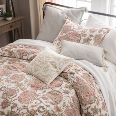 JCPenney Home Amelia 4-pc. Floral Comforter Set