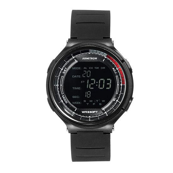 Armitron Pro Sport Mens Black Strap Watch-40/8418blk