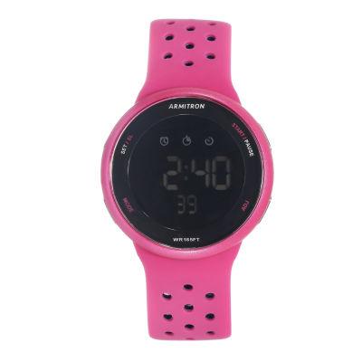 Armitron Prosport Mens Pink Strap Watch-40/8423mag