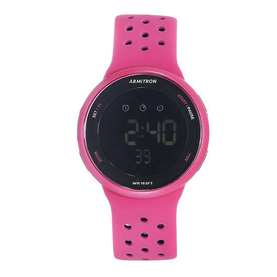 Armitron Pro Sport Mens Chronograph Pink Strap Watch-40/8423mag